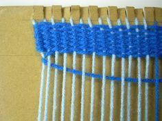 weave on cardboard