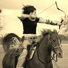 Archery on horseback. Wow. I so am doing this someday @Katie Hrubec Barnett  @Diane Haan Lohmeyer Ctshll
