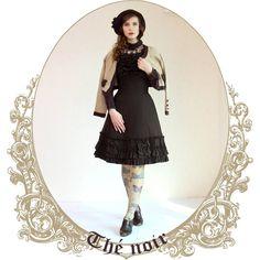 Fourth outfit of the tea series: black tea! #fannyrosie #fashion #jfashion #classiclolita #marymagdalene #vintage #vintagestyle #innocentworld #axesfemme #grimoire #verum #clarks #tea #blacktea #cloche