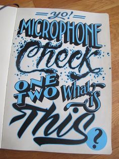 """Sketchbook Lettering by Carl Fredrik Angell """"The five foot assassin with the roughneck business..."""""""