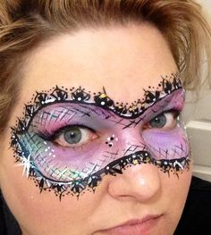 Masquerade Mask face painting