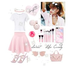 ~Sweet Like Candy~ by breakfastatmichelas on Polyvore featuring polyvore, fashion, style, RE/DONE, Prada, Kenzo, Miss Selfridge, Casetify, So.Ya and clothing