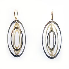 Orbit Earrings Gold  By Melissa Borrell#Repin By:Pinterest++ for iPad#