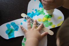 Plain Vanilla Mom: Bugs and Butterflies; toddler made butterflies