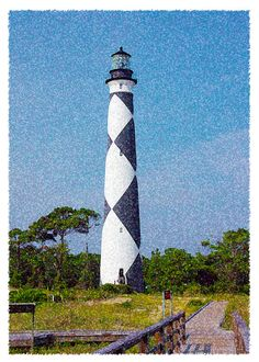 Cape Lookout Lighthouse Note Card by WritingPlaces on Etsy, $3.00