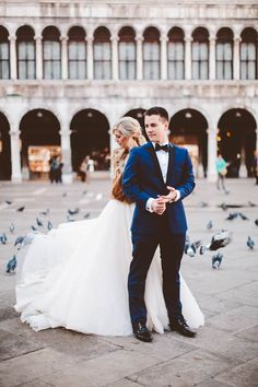 Romantic wedding portraits in Venice | Allison Harp Photography
