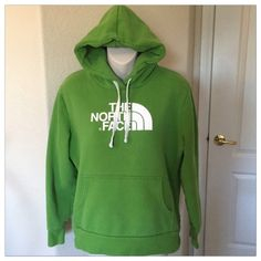 "♣️ North Face green thick hoodie large This is a mint condition North face green hoodie sweater. Side large. Thick fabric made of cotton and polyester. Bust 44"" waist 37"".   All items are from a clean, smoke free home  We ❤️ offers but will only be considered by using the ""OFFER"" option  Trades  Modeling North Face Jackets & Coats Utility Jackets"