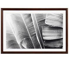 "Lush Leaves Framed Print by Lupen Grainne, 42 x 28"", Ridged Distressed Frame, Espresso, Mat"