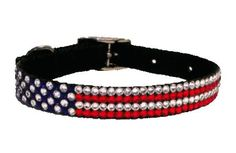 Dog Collar American Flag Patriotic for Nickel's Abby