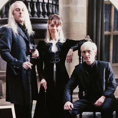 My favorite malfoy family ❤️ Draco Harry Potter, Harry Potter Characters, Harry Potter Universal, Hermione Granger, Hogwarts, Slytherin, Dramione, Drarry, Draco Malfoy Imagines