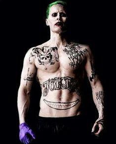 """Suicide Squad"" .- Jared Leto as ""The Joker. I find him so attractive ❤️ why?"