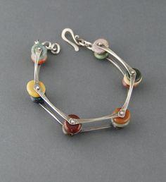Wide Pinned Pebbles Bracelet $215.00