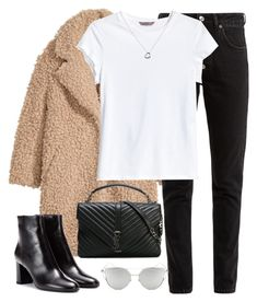 """""""Untitled #3308"""" by elenaday ❤ liked on Polyvore featuring H&M, Balenciaga, Yves Saint Laurent, Chicnova Fashion and Tiffany & Co."""