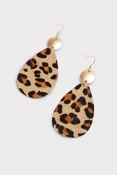 Henley Leopard Tear Drop Earrings | EVEREVE Wood Earrings, Silver Drop Earrings, Leather Earrings, Chic Shop, Brand Style Guide, Fashion Branding, Teardrop Earrings, Designer Earrings, Crochet Earrings