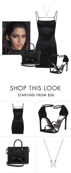 """Untitled #1590"" by elinaxblack ❤ liked on Polyvore featuring Stuart Weitzman and Yves Saint Laurent"