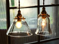 The vintage and fashion style Lamp is made of glass and brass,and the orange light can comfort weary souls Candle Lamp, Jar Lamp, Candle Lanterns, Cafe Interior, Interior And Exterior, Interior Design, Cool Lighting, Lighting Design, Japanese Interior