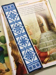Cross stitch book mark ( kanaviçe kitap ayracı)