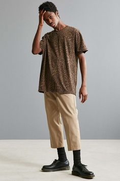Feathers Slouch Fit Printed Tee - Urban Outfitters