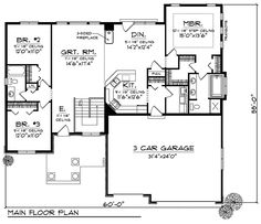 Charming Ranch Home Plan - 89305AH | 1st Floor Master Suite, CAD Available, PDF, Photo Gallery, Southern, Split Bedrooms, Traditional | Architectural Designs