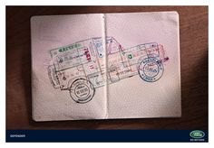 "Rainey Kelly Campbell Roalfe/Y (UNITED KINGDOM)  Land Rover Defender, ""Passport Stamps"""