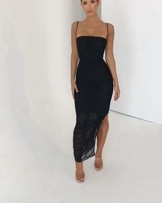 No matter how casual or elegant the outfit is, black is always the answer to everything. That is why we have here some beautiful dresses in black that you can wear to look more chic and attractive. Short Beach Dresses, Sexy Dresses, Cute Dresses, Beautiful Dresses, Evening Dresses, Fashion Dresses, Awesome Dresses, Maxi Prom Dresses, Strapless Midi Dress
