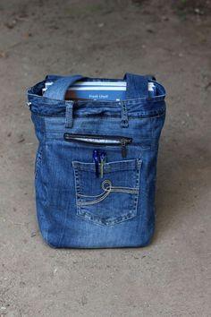 Recyceltem Denim Tasche Unisex Tasche Strandtasche lässige