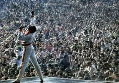 ✊July 11th and 12th, 1986.  In the middle of the Magic Tour, Queen performed live at Wembley Stadium. It had been a year since they played there as part of Live Aid. The shows were both recorded and their later release shows the band at the top of their live game. Much has been made of Freddie's seemingly prophetic statement about false rumours of the band's break up and that they would stay together until they died. While at home in London that week, Freddie gave an interview to David Wigg…
