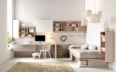 Fitted bedroom set for girls CITYNEW 136 by Doimo CityLine