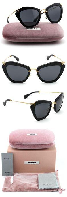 1e04a88ef3cb Miu Miu MU 10NS NOIR Collection Forties-style Sunglasses Women (Black Frame