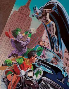 Batman & Robin vs Joker, Penguin & Two-Face by David Michael Beck