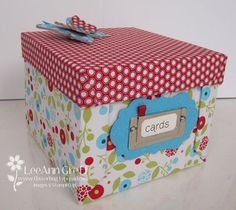 Summer Smooches fabric covered box. Thanks LeAnn!