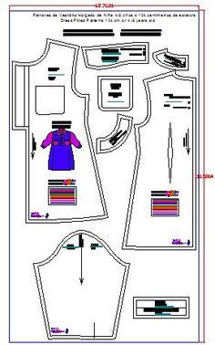 Imprimesion de vestido de niñas en Plotter Shirtdress, Dress Pants, Girls Dresses, Dress Patterns, Sewing Patterns, Toddler Cowl