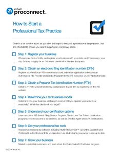 How to start a professional tax practice