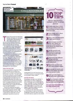Photography tips for your products... craft seller magazine - kellie spicknell photography