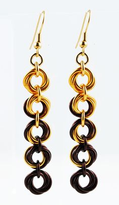 5-Flower Earrings | Handmade Chainmaille Jewelry by Rebeca Mojica