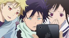 I just noticed the grapes logo on the phone, looks like Apple has some competition XD #noragami