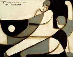 Tommervik- Cubism Baseball Player Painting