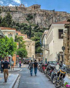 Aiolou str., Athens, Greece Places Around The World, The Places Youll Go, Places To See, Around The Worlds, My Athens, Athens Greece, Mykonos Greece, Crete Greece, Wonderful Places