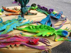 Felters Journey: Making lizards with Judit Pocs