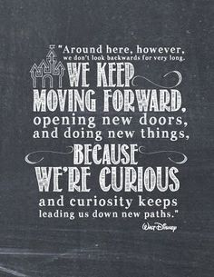We must always Keep Moving Forward even when there are setbacks.