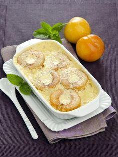 Clafoutis aux prunes jaunes et bananes : Recette de Clafoutis aux prunes jaunes et bananes - Marmiton