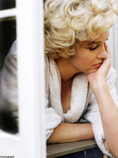 Marilyn Monroe in deep thought