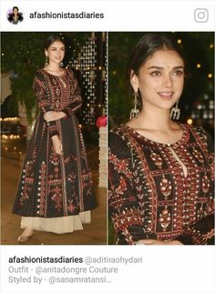 Aditi Rao Hydari in Anita Dongre – South India Fashion Indian Attire, Indian Ethnic Wear, Indian Dresses, Indian Outfits, Pretty Outfits, Pretty Dresses, Summer Dresses Online, Indie Mode, Kurti Designs Party Wear