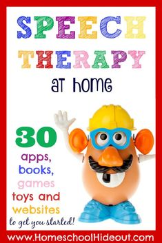 You CAN do speech therapy at home! Armed with this list of 30 resources, you can get started today.