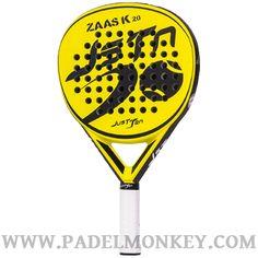 Pala de padel Zaas K kolors Negra-Amarilla de la marca JUSTTEN ya en PADELMONKEY.