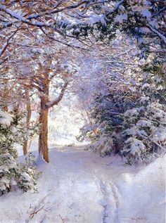 Walter Launt Palmer (American painter, 1854-1932) Snowy Landscape