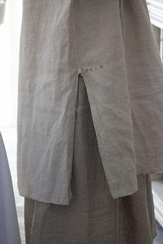 「フランスアンティーク リネンシャツ」ココン・フワット Coconfouato [アンティーク照明&アンティーク家具] アンティーククロス アンティークファブリック アンティークテキスタイル ファブリック レース --cloth--