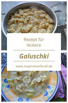 Galuschki - receita de sopa galuschki e galuschki frito - Leckere Rezepte von inspirationforall. Russian Dishes, Russian Recipes, Russia Food, Borscht Soup, Best Pancake Recipe, Sugar Scrub Recipe, Unique Recipes, Love Food, Pancake