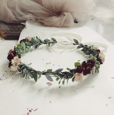 Excited to share the latest addition to my #etsy shop: Burgundy Flower Crown. Blush and burgundy flower crown. Burgundy flower crown. Burgundy headpiece. Wine flower crown. Pink floral crown