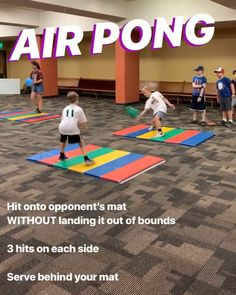 PHYSED GAME: Air Pong is a baller introduction to striking an object in the air. Score points by landing the balloon on your opponent's… 804455552171510660 Physical Education Activities, Elementary Physical Education, Elementary Pe, Pe Activities, Gym Games For Kids, Exercise For Kids, Sport Snacks, Pe Lesson Plans, Pe Lessons